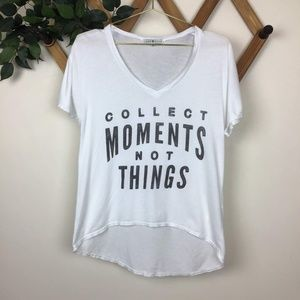 "Junk Food ""Collect Moments Not Things"" Graphic Tee"